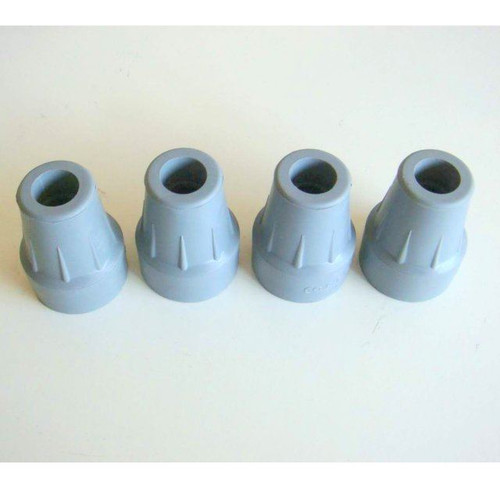 4 x 18mm Grey Rubber Coopers Ferrules Cane End Stick Tips
