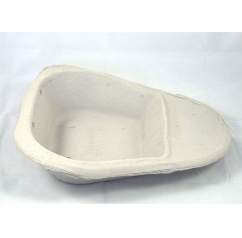 25 Pulp Cardboard Dispoable Slipper Bed Pan Liner Biodegradeable For Home or Nursing Care Hospital Style