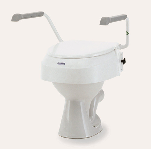 Invacare Aquatec 900 2'' 4'' or 6'' Raised Toilet Seat For Disabled Elderly With Lid and optional Armrests Disability Toileting Aid