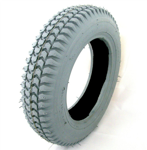 Innova Grey Block Tread Pneumatic Mobility Scooter Tyre size 3.00-8 300x8 fits Shoprider Cordoba and others