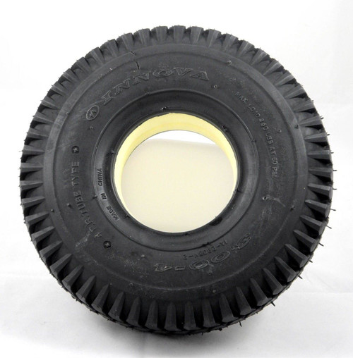 3.00-4 300x4 260x85 Solid Black Infilled Block Tread Tyre for Mobility Scooters Puncture Proof