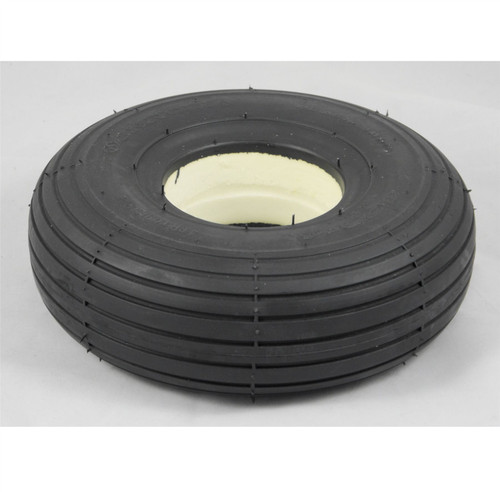 3.00-4 300x4 260x85 Black Solid Rib Tread Infilled Puncture Proof Mobility Scooter Tyre