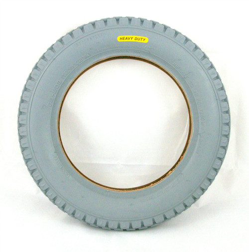 12 1/2 x 2 1/4 Heavy Duty Grey Wheelcahir and Powerchair Replacement Block Tyre Cheng Shin