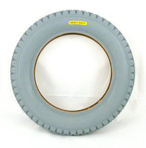 12 1/2 x 2 1/4 Heavy Duty Grey Wheelcahir and Powerchair Replacement Block Tyre Cheng Shin