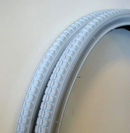24'' x 1 3/8'' Grey Pneumatic Wheelchair Tyres