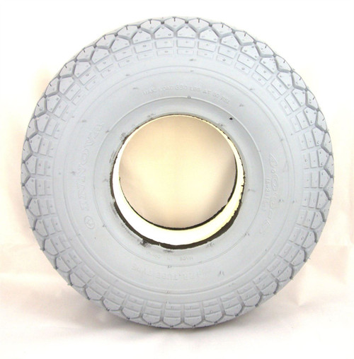 C154S Grey Solid Infilled Puncture Proof Mobility Scooter Tyre 4.00-5 330x100