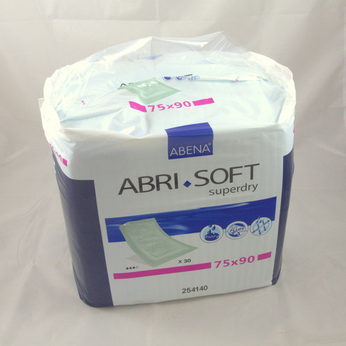 Abena Abri Soft Superdry Disposable Bed Pads With Adhesive Strips 75 x 90 Absorbant Mats 254140