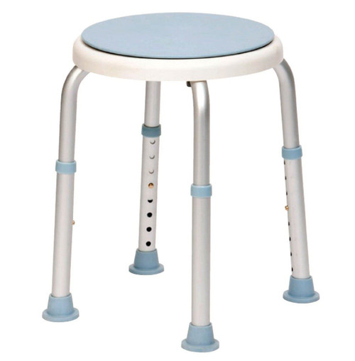 Bath Stool Shower Seat with Swivel Rotating Seat Adjustable Height Bathing Washing Aid for Elderly and Disabled