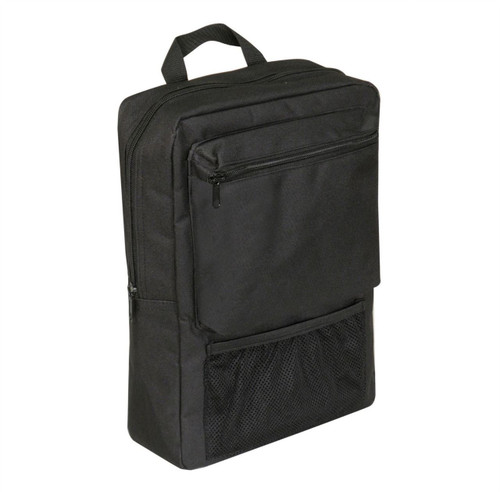 Black Water Resistant Scooter and Wheelchair Arm Rest Pannier Bag with zipped Compartments and Secure Hook and Loop Fastening Aidapt