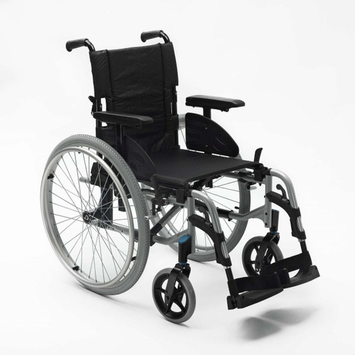 Invacare Action 2 NG  18'' Wide Lightweight Self Propelled Wheelchair with Swing away Footrests and Arms