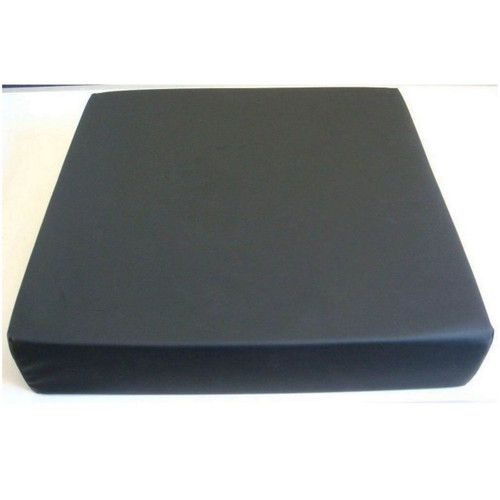 Harley Designer Memory Foam Wheelchair Cushion 16x16x3 Black Dartex Cover