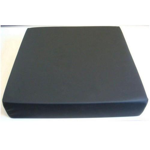 Harley Designer Memory Foam Wheelchair Cushion 16x16x3 Black Dartex Cover