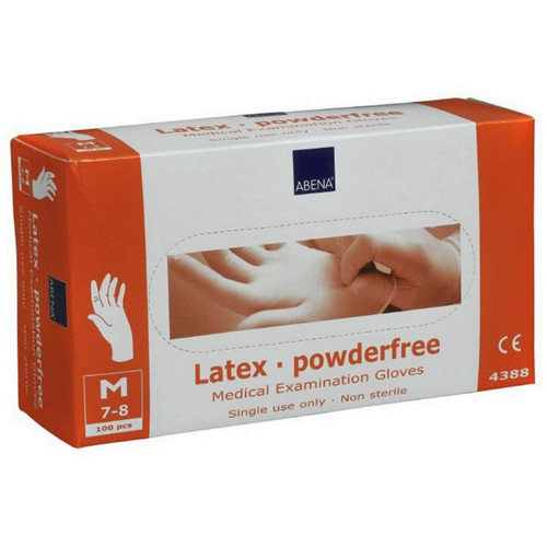 4389 Medium Powder Free Latex Disposable Examination Gloves Abena