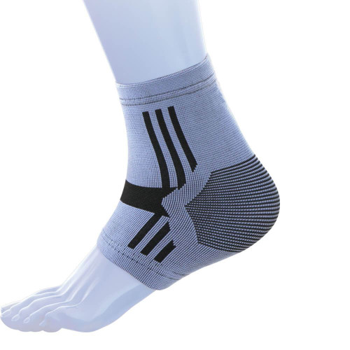 KED004 Kedley Elasticated Four-Way Stretch Ankle Support for Strains Sprains and Sport Injuries Small