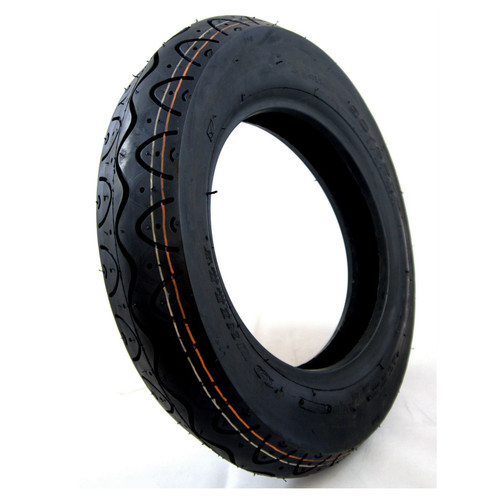 90/80-8 Black Scooter Tyre fits Drive Royale 4 Front Wheel