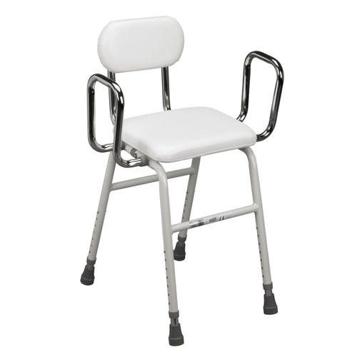 Drive 4 in 1 Perching Stool Angled Chair Adjustable Height Legs Removable Arms and Back 12455