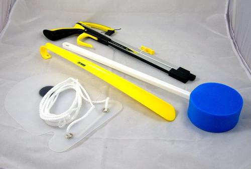 Hip Kit Post Surgery Mobility Assistance Handy Reacher Shoe Horn  Sock Aid Long Handled Sponge