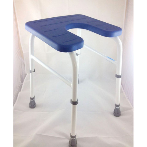 Shower Stool Height Adjustable with Cut out for Personal Hygiene