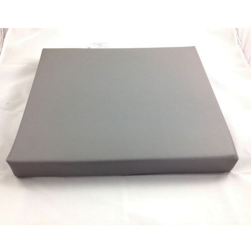 2'' Grey Vinyl Foam Wheelchair Cushion 17''x15''x2''