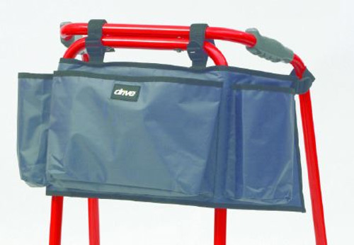 RT-WABAG1 Grey Nylon Zimmer Walking Aid Frame Bag Accessories Three Pocket