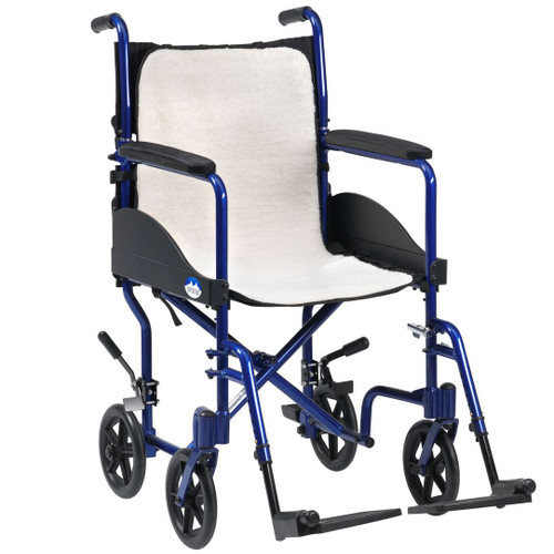 RT-FLO Wheelchair Seat Overlay Cosy Fluffy Fleece Lining Cover Adjustable Strap Buckle to Secure