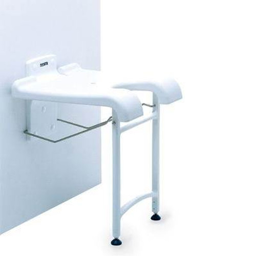 Invacare Sansibar Folding Wall Mounted Shower Stool Seat With Legs