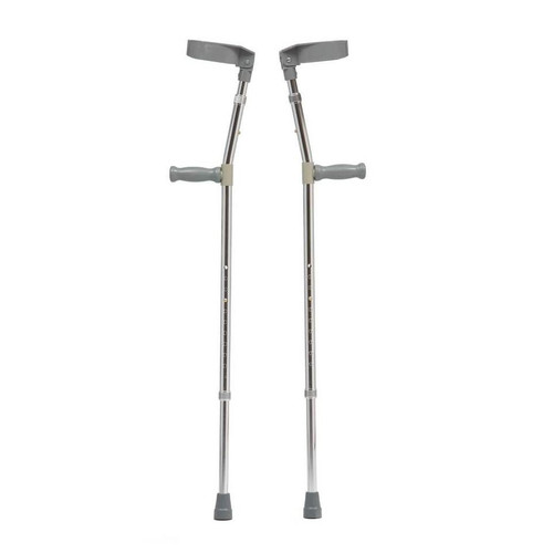 ADWM015SIL Adaptable Medium Height Double Adjustable Forearm and Height Elbow Crutches