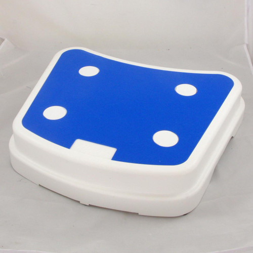 Stackable Portable Travel Step Stool 4'' Help Getting in Bath Shower Non Slip Drive Blue White RTL12068