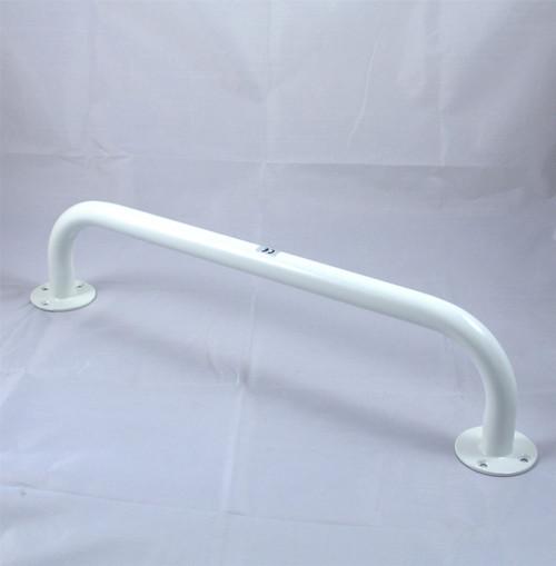 18'' (45cm) White Powder Coated Steel Metal Grab Bar Wall Rail Mobility Aid
