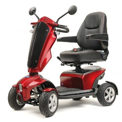TGA Vita Lite Metallic Red 6mph midsize Mobility Scooter Luxury Rear View Mirrors Arm Rest Suspension Free Delivery Forest Mobility Thetford Norfolk IP24