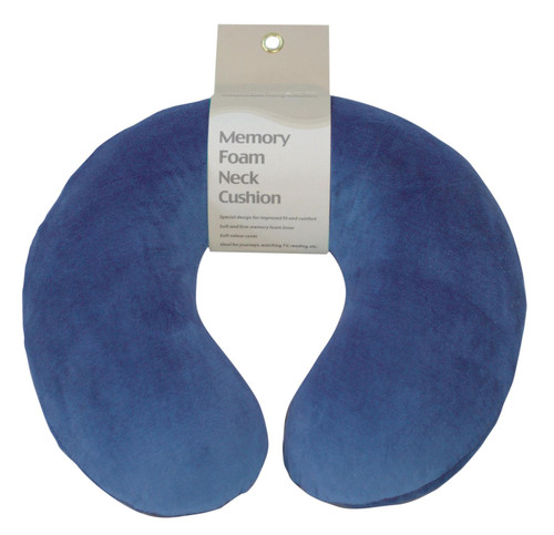 vm936a Aidapt Blue Memory Foam Neck Cushion Travel Pillow Head Support Rest