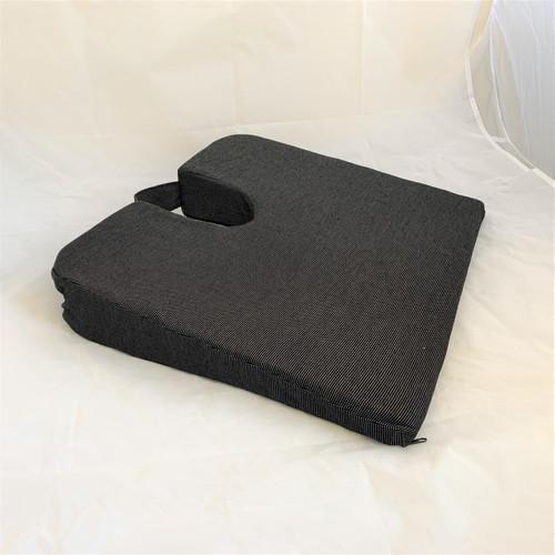 Aidapt Black Wedge Coccyx Cushion Non Slip Foam