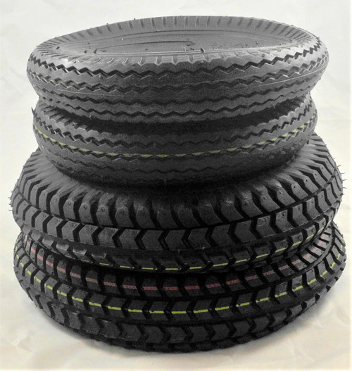 Set of four black pneumatic tyres for Sapphire 2.