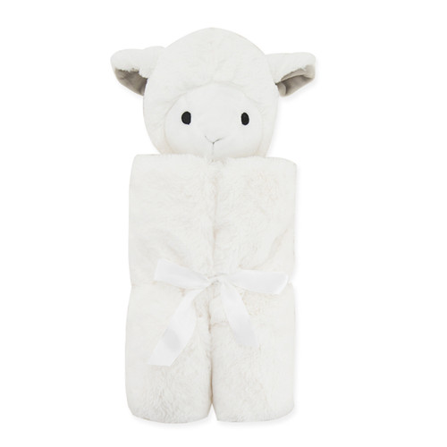 baby lamb swaddle plush lovey blanket