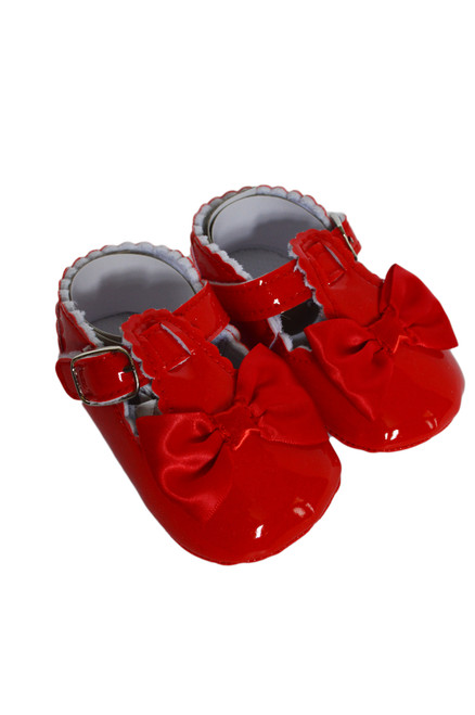 baby red mary janes