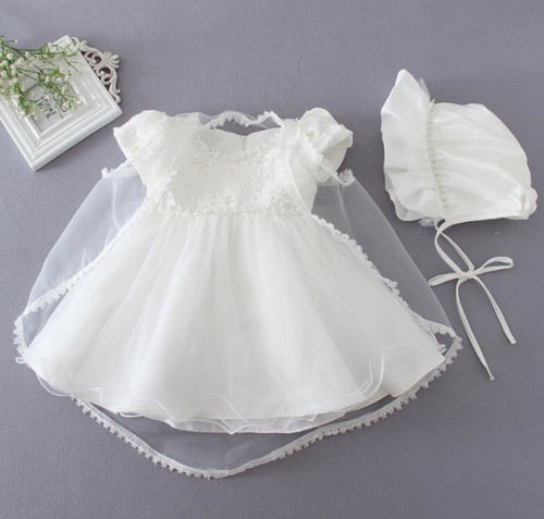 Beaded Baptism Gown
