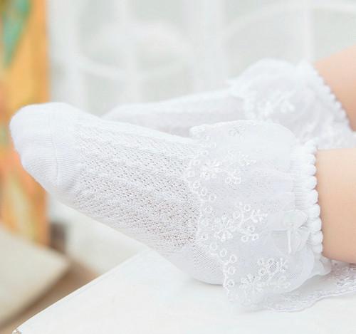 baby toddler white lace socks