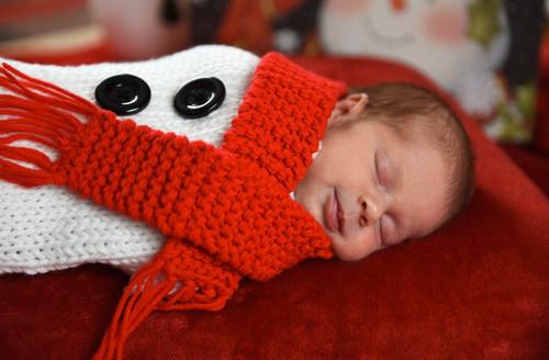 winter snowman baby crochet photo prop