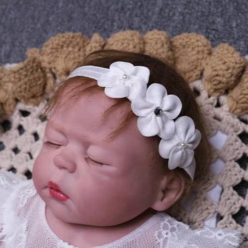 Anna Floral Gem Baptism & Christening Headband