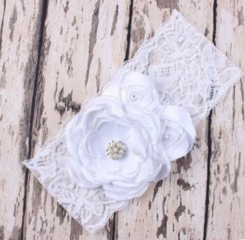 Faith White Floral Headband