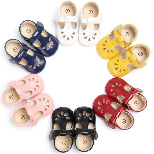 Organic leather mary janes