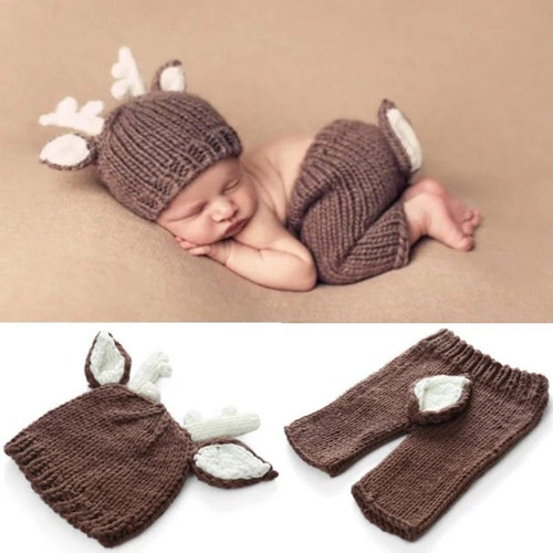 Deer Baby Photography Prop, Baby Photography Session Outfit