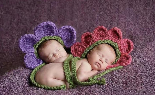 Crochet Baby Flower Hat