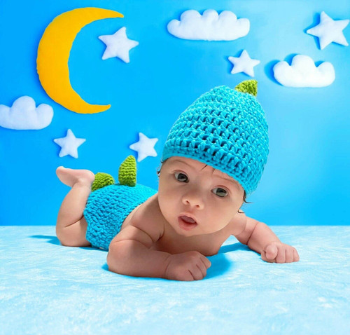 baby dinosaur crochet photo prop