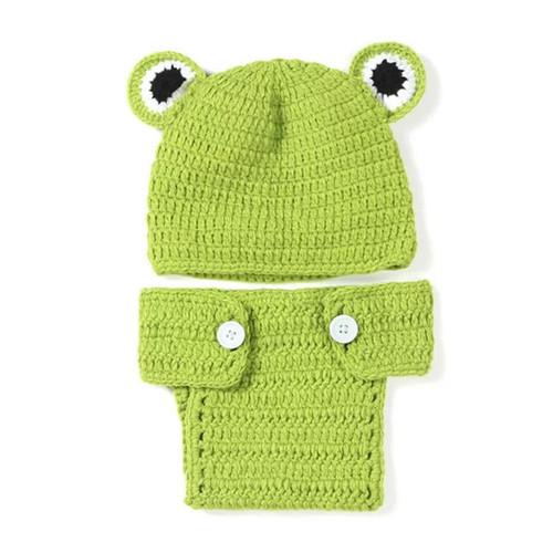 Froggy Frog Themed Photography Prop Baby Boy Girl Unisex Crochet