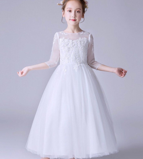 Lace Communion Gown Opaque