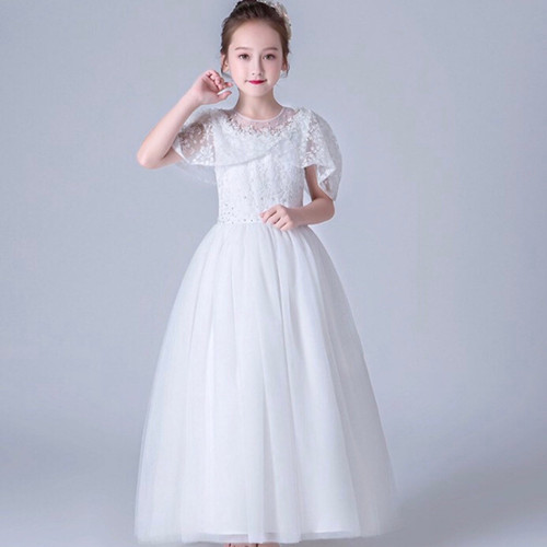 Communion gown sequin bodice