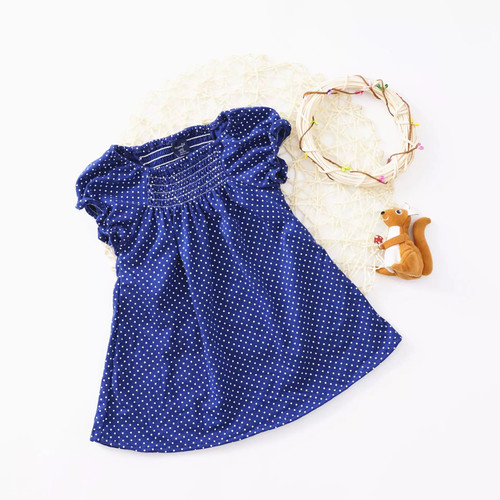 Baby polka dot spring dress