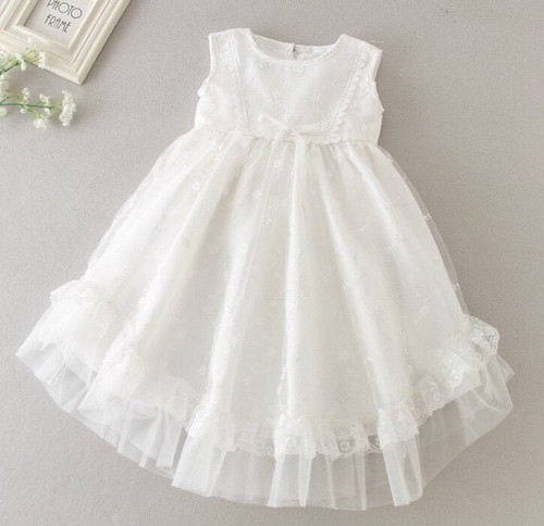 White Baptism dress Christening Gown