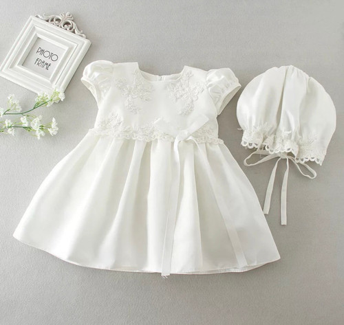 Beaded baptism dress